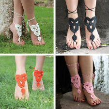 Sexy Crochet Cotton Foot Jewelry Anklet Bracelet Barefoot Sandals Ankle Chain