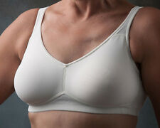 Nearly Me Mastectomy Soft Seamless Cup Bra #530 All Sizes: 34A thru 42D 2 Colors