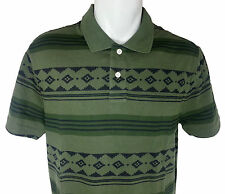 NWT Chaps Patterned Pique Green Polo Shirt, Mens Sizes Medium, Large, XLarge