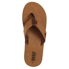Reef Leather Smoothy Sandals Bronze Brown Reef Men's Shoes