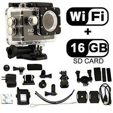12MP WIFI HD1080P Sport Action Waterproof Video Helmet DV Camera Camcorder Cycle
