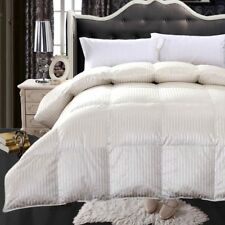 Royal Hotel 900 Thread Count Silk & Goose Down Striped Bedroom Comforter 750 FP