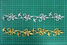 Gold or Silver Iron On Embroidered Applique #44 Tutu Dance Costume Trim Decorate