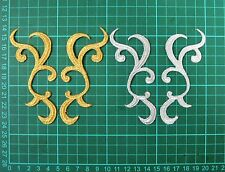 Gold or Silver Mirror Pair Iron On Embroidered Appliques #34-S Tutu Costume Trim