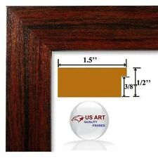 Arkansas Cherry Maroon  Picture Poster Photo FRAME  Wood Composite 10 in WIDE