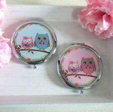Vintage Style OWL DUO Double MIRROR COMPACT Gift