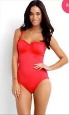 NEW Seafolly Shimmer D Cup Bustier Maillot One Piece Red 10, 12, 14 rrp $159.95