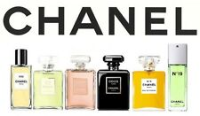 CHANEL WOMEN PERFUMES! 4 x 3ml SPRAY VIALS CHOOSE ~ 26 DIFFERENT SCENTS AVAIL.