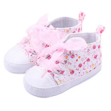 NEW Baby Boots Girls Lace Up Soft Sole Crib Sneakers Shoes Toddler Shoes0-18M AU