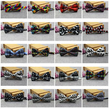 Men Colorful Houndstooth Stars Tartan Special Printing Bow Tie Casual Bowtie Hot