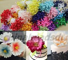 1 Bunch 140Pcs Double Side Head Millinery Flower Stamens Cake Floral Craft