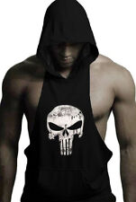 The Punisher Men's Hoodie Sleeveless Athletic Fit Pullover Gym Jumper Sweatshirt