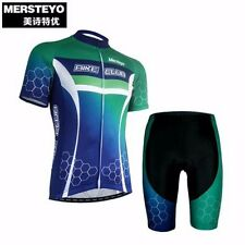 MERSTEYO Outdoor Men Pro Team Cycling  Jersey Bike Jacket Bicycle Padded Shorts