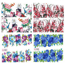 Nail Art Water Transfer Decals Stickers Wraps Pretty Flowers Floral Gel Polish