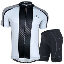 White Armor Men's Cycling Jersey and Shorts Suit Cycling Short Set Cycling Kits