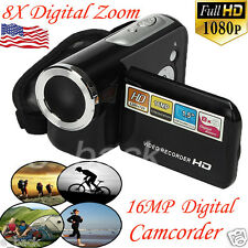 "1.5"" TFT LCD Digital Video Camcorder 16MP 8X Digital Zoom HD 1080P Camera DV LOT"