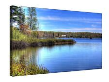 Lake Michigan Nature Landscape - Canvas Wall Art Framed Picture Print + sizes