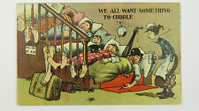 1910s Donald McGill Unsigned Comic Postcard Seaside Boarding House Chambermaid