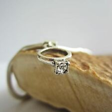 Clear Birthstone Engagement Ring European-Style Charm and Bracelet- Free Ship