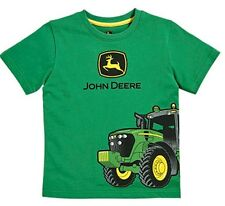 NEW John Deere Boys T-Shirt Green Wrap Around Tractor Sizes 4, 5, 6, 7
