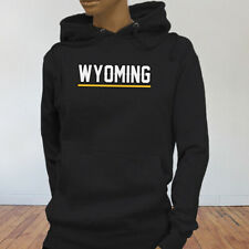 State City Travel Tourist Tour Wyoming Vacation Proud Womens Black Hoodie