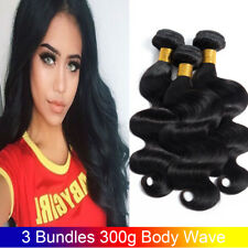 Peruvian Body Wave Human Hair Extensions 7A Virgin Hair Body Wave 3 Bundles 300g