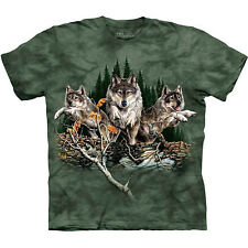 FIND 12 WOLVES T-Shirt by The Mountain Hidden Wolf Images S-3XL NEW