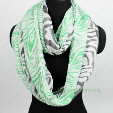Women's Fashion Scarf Zebra Stripes Stitching Color Soft Long/Infinity Scarf New