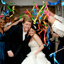 Hot 1Pc Twirling Ribbon Wands Wedding Party Favor Sticks With Bell Bride Groom