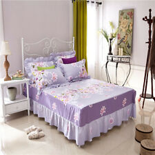 Lily Bedroom 1 Bed Fitted Sheet/Valance+2 Pillowcases All Size Cotton Blend O
