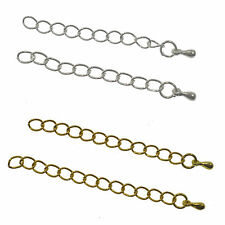 20Pc Gold/Silver 5x3MM Extension Jewelry Chains/Tail Extender Link Finding 5-7CM