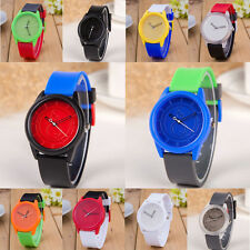 Fashion Unisex Children Colorful Silicone Jelly Quartz Analog Sports Wrist Watch