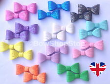 Pair of Sparkling Hair Bows Various Colours on Small Alligator Clips