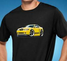 2003-04 Ford Mustang Mach 1 Muscle Car-toon Art Tshirt NEW FREE SHIPPING