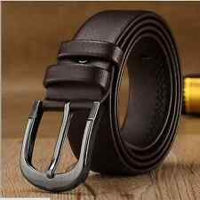 New Men' Leather Antique Casual Business Dress Jean Single Prong Belt Pin Buckle