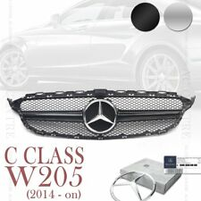 MERCEDES BENZ C Class W205 SPORT MESH FRONT GRILL GRILLE 1 FIN C63 AMG STYLE