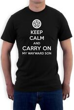 Keep Calm and Carry On My Wayward Son T-Shirt Supernatural