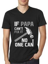 If PAPA Can't Fix It No One Can  - Gift for Father's Day V-Neck T-Shirt