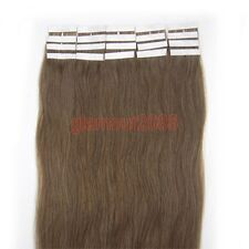 New PU Seamless Skin Tape in Remy Real Human Hair Extensions #08 Chestnut Brown