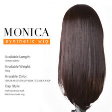 16 Inch Heat Resistant Lace Frontal Wigs MONICA Synthetic Hair Straight Wigs