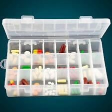 Transparent Plastic Jewelry Organizer Box Beads Ear Stud Storage Container
