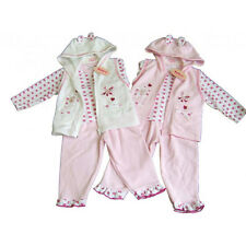 BABY GIRLS THREE PIECE OUTFIT IN PINK/CREAM 6-12, 12-18, 18-23 MONTHS BRAND NEW