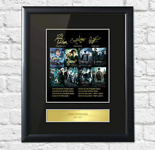 Harry Potter ALL FILMS Signed Mounted Photo Display Daniel Radcliffe Emma Watson
