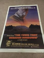 'THE TOWN THAT DREADED SUNDOWN' GIANT ORIGINAL U.S. CINEMA POSTER - 40'' x 30''