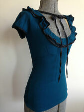 """REVIEW STUNNING SCOOP NECK 'FLAVISH """" TOP  NWT **size 6"""