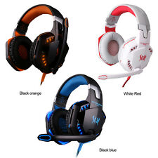 KOTION EACH G2000 Over-ear Gaming Headphone Headset Mic Stereo LED Light For PC