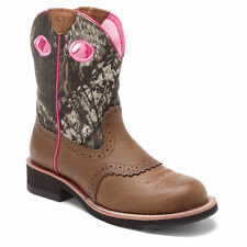 Ariat Women's Fatbaby Cowgirl Western Boots Distress Brown/Mossy Oak 10006854