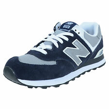 NEW BALANCE 574 RETRO RUNNING SHOES NAVY GREY WHITE M574BGS