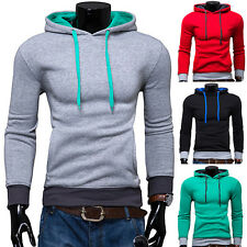 Fashion Men's Stylish Slim Fit Casual Pullover Hoodies Hooded Sport Jacket Coats