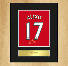 Alexis Sanchez Signed Mounted Artistic Photo Display Arsenal